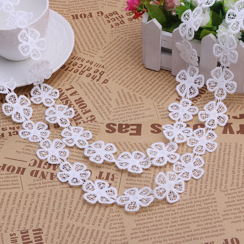 a3807d7e1 2 Yards White Vintage Flower Lace Trim Sewing Ribbon