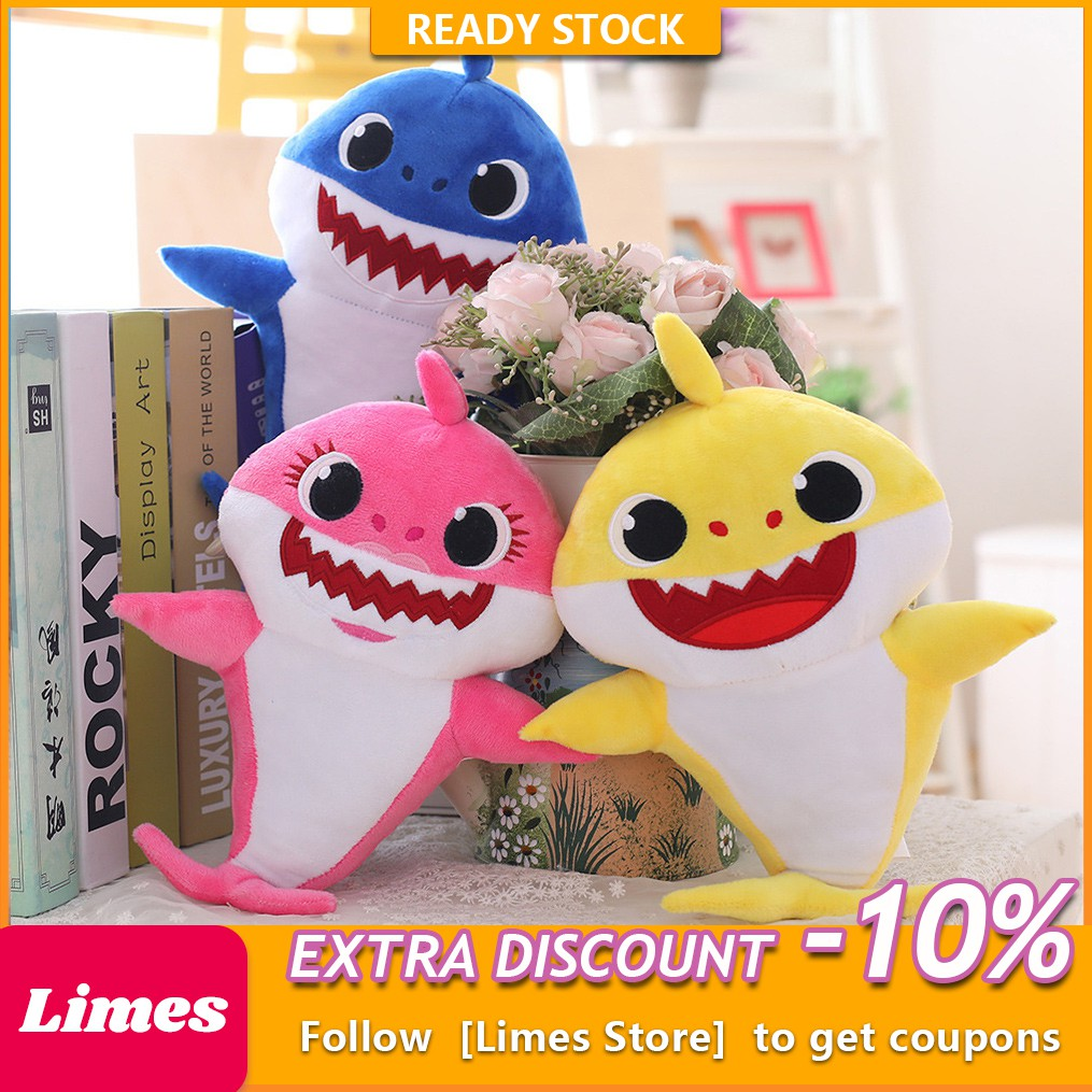 Baby Shark Silicone Singing Toys Music Song Lighting Doll Toy Creative Gift