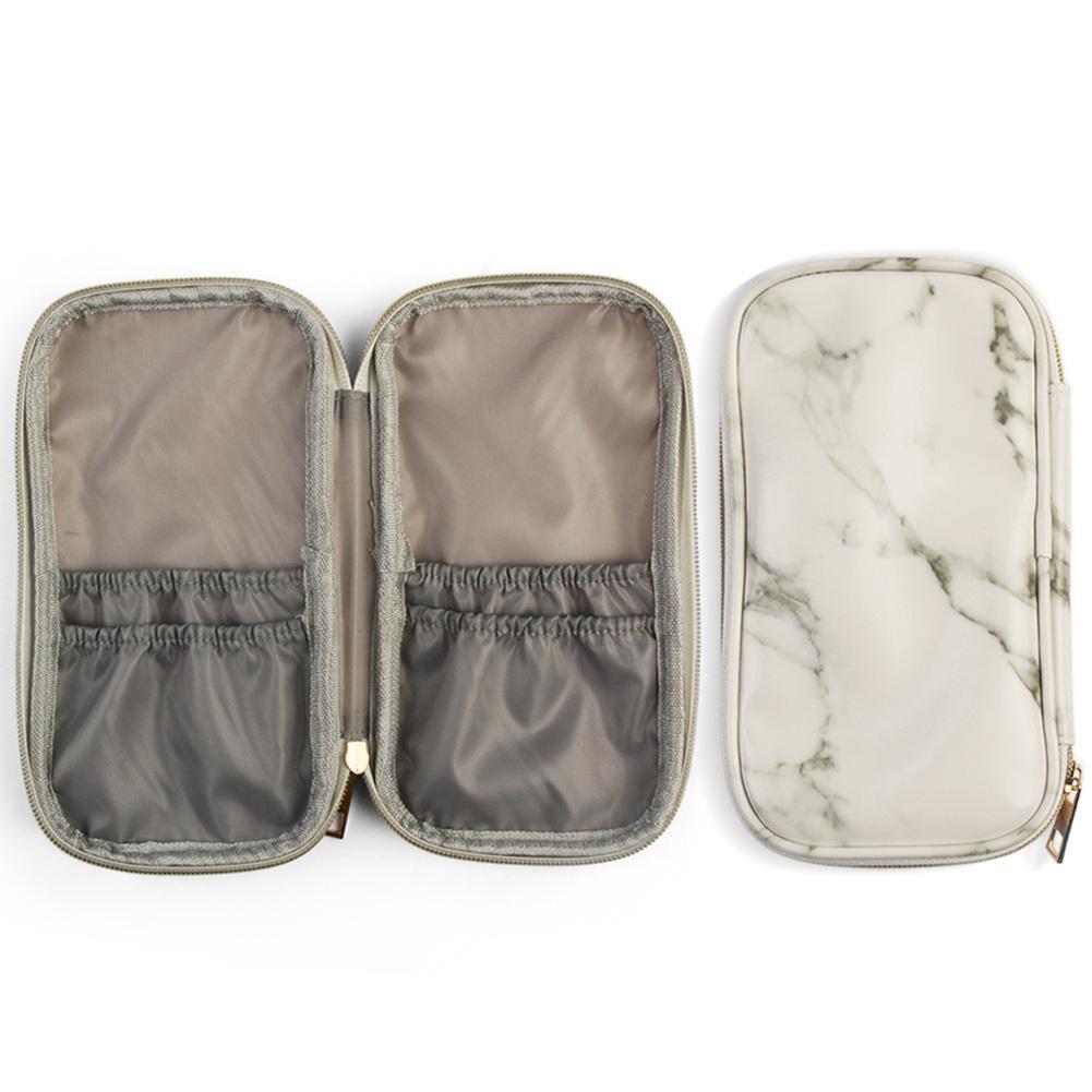 667f1816e70e53 Marble Makeup Bag Portable Travel Cosmetic Bag Multifunction Toiletry Bag |  Shopee Malaysia