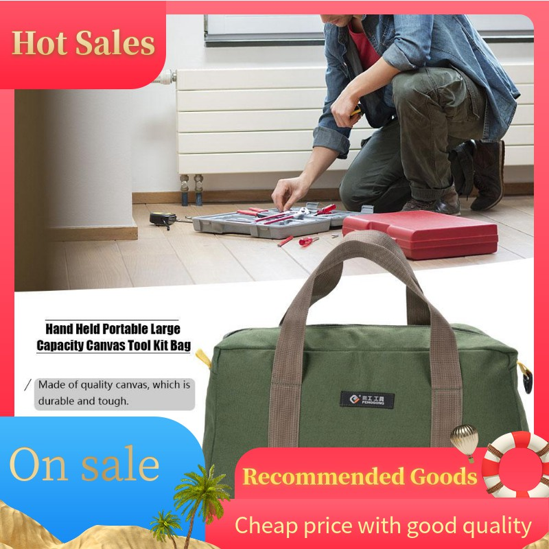 7b4579bc9fb0 Hand Held Portable Big Size Large Capacity Canvas Tool Bag