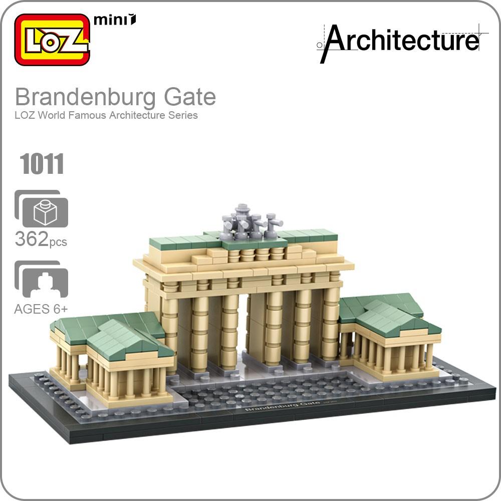 Loz Building Blocks Mini Architectural Models Of Famous Buildings 9387 Nano Architecture Statue Liberty Brandenburg Shopee Malaysia