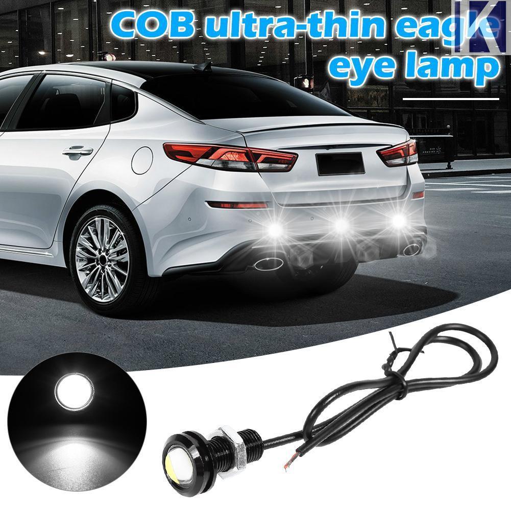 2pcs 18mm Diameter Yellow COB LED Eagle Eye DRL Backup Signal Lamp Light for Car