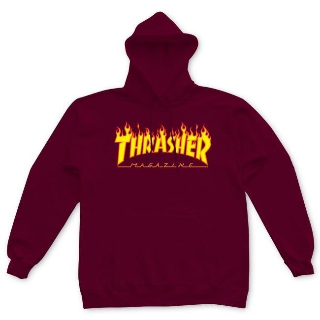 5dd426dba Thrasher Flame Hood Maroon