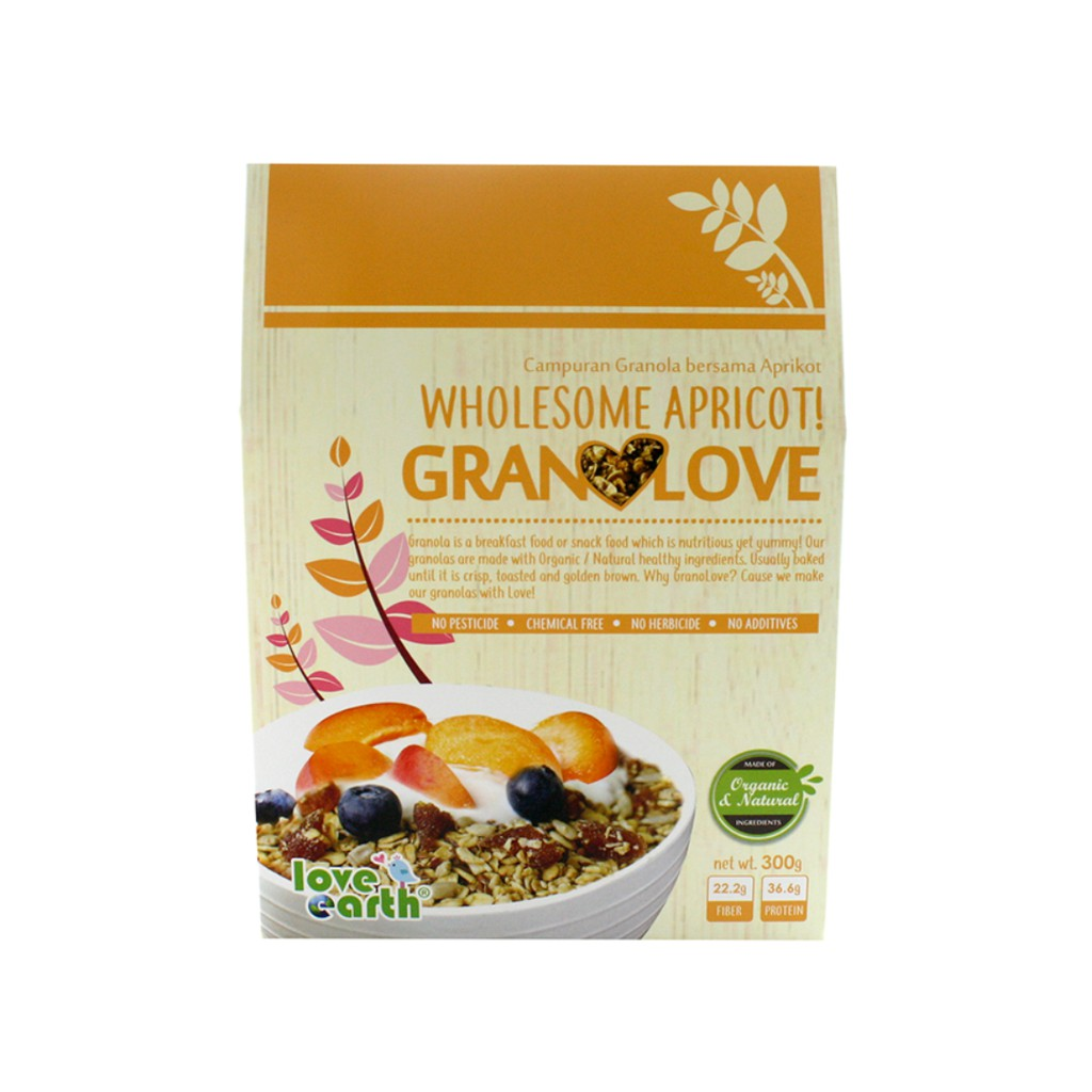 Wholesome Apricot Granolove 300g