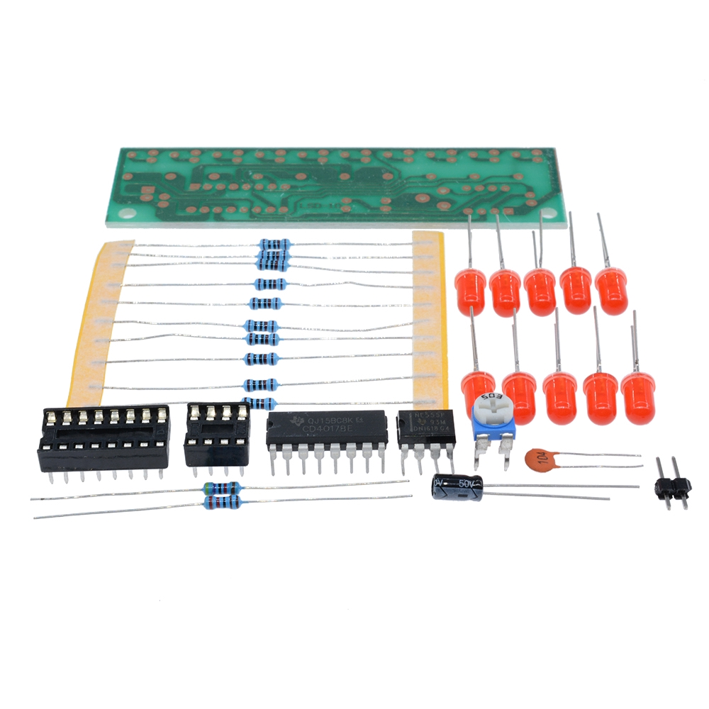 NE555 /&CD4017 LED Light Chaser Sequencer Follower Scroller Module DIY Electronic