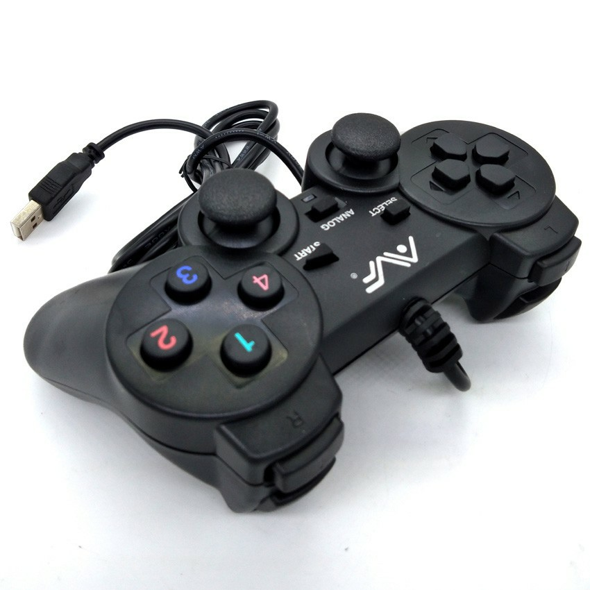 AVF STK 2009 USB Double Shock Controller with Real Vibration feel For Pc joystick pointer game gaming desktop USB