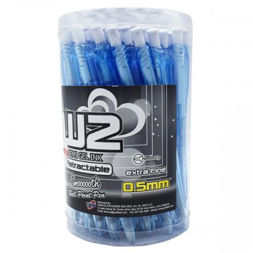 G'soft W2 Retractable Ball Pen 0.5mm (50 pens / Drum)