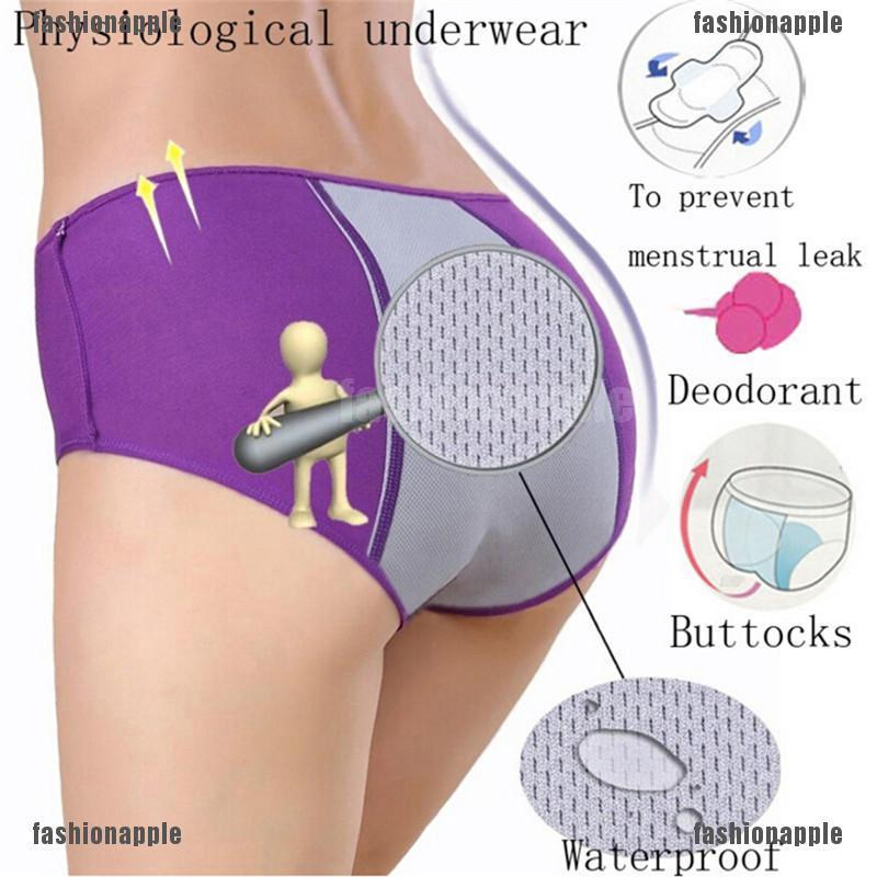 Women Briefs Seamless Underwear Menstrual Period Leakproof Physiological Panties