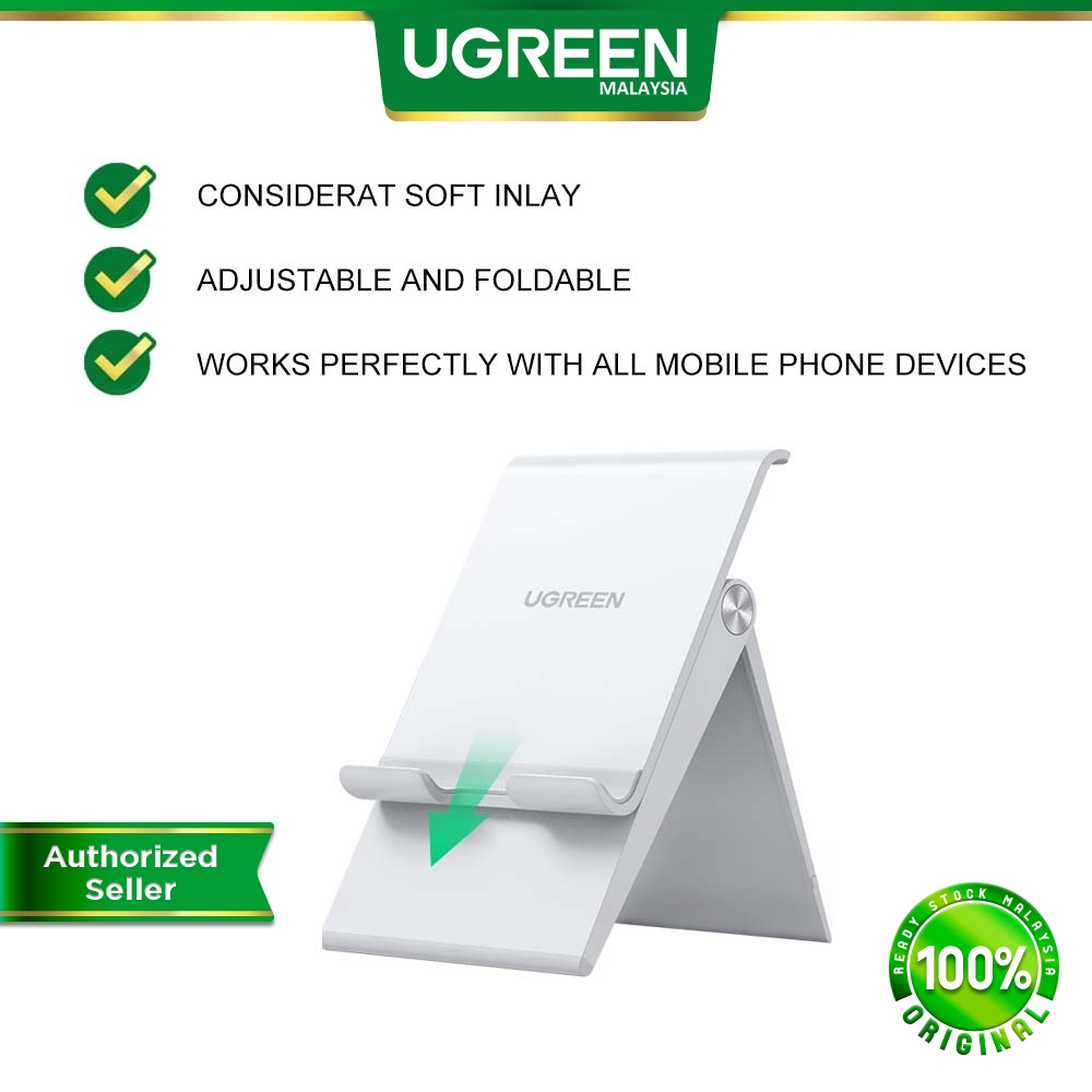 UGREEN Phone Stand Holder Desk Cell Phone Dock Stand Adjustable Foldable All Phone Types Android IOS iPhone Samsung