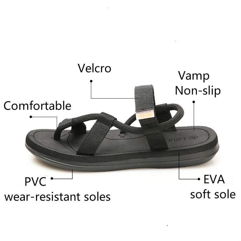 30c80a2187 Summer men's fashion sandals Lovers comfortable beach shoes | Shopee ...