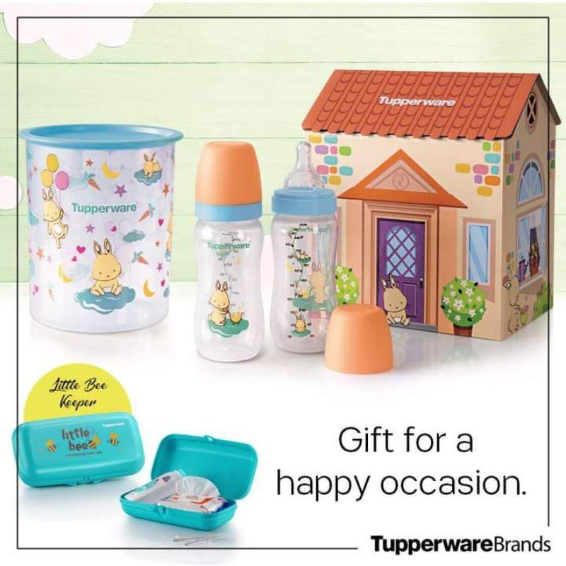 Ready Stock ✅ Botol Susu Tupperware Happy Bunny Bundle Original Tupperware Little Bee Keeper Botol bayi Baby Bottles