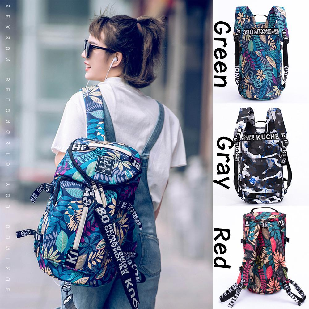 6a349a01ee80 New Women's Luminous Backpack Casual Fluorescent Gradient Double ...