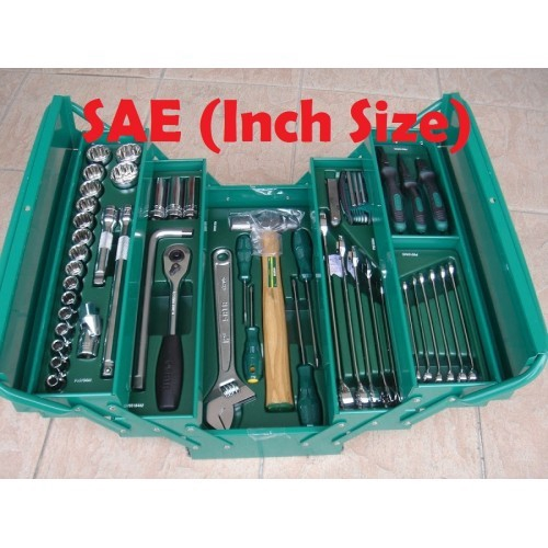 Inch Size SATA 69PC Cantilever Mechanic Tool Chest Set (12PT) 95104A-70SAE
