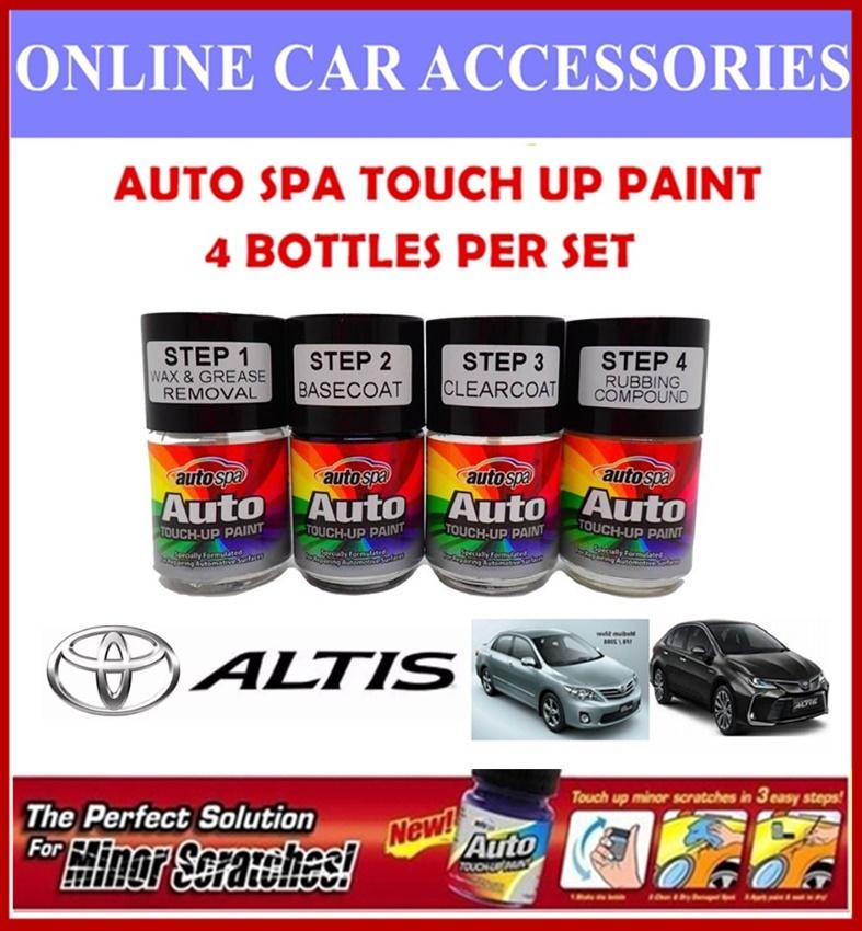 TOYOTA ALTIS Original Touch Up Paint - AUTOSPA Touch Up Combo Set (4 Bottles Per Set)