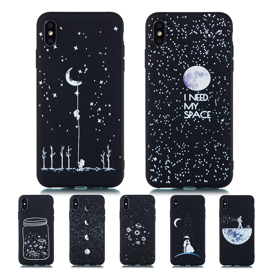 Case iPhone 7 8 Plus 6 6S Plus X XS Max XR Casing TPU Soft Cover Starry Sky Case