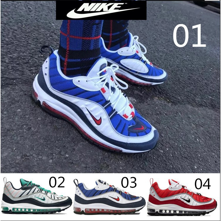 2018 Nike Air Max OG 98 WhiteBlack Gym Red Running Sale