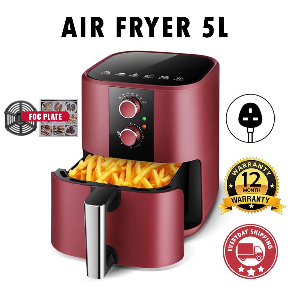 SEND TODAY* 1 YEAR WARRANTY BIG PREMIUM 5L Air Fryer Non-Stick Oil-Free Fry Roast Grill Bake Machine Auto Timer