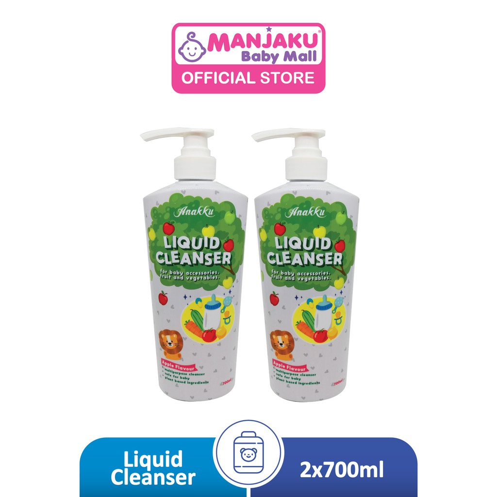 Anakku Liquid Cleanser Twin Pack (700ml x 2) - Apple Flavor