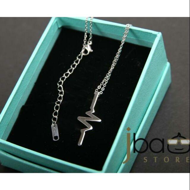 Pulse Lightning Thunder design necklaces valentine day lovely birthday gift
