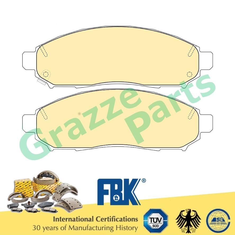FBK Disc Brake Pad Front for FD1837MS - Nissan Frontier D4D Navara D40 Serena C2