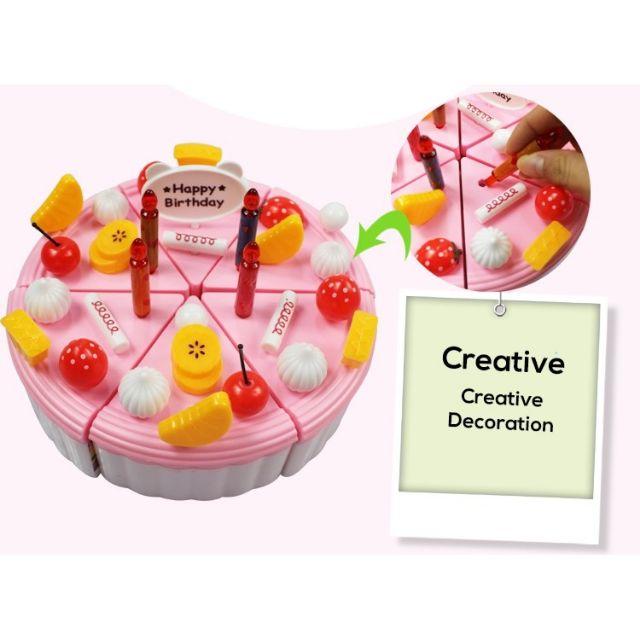 Brilliant Ready Stock Pretend Play Birthday Cake Cutting Kid Toy Kek Funny Birthday Cards Online Drosicarndamsfinfo
