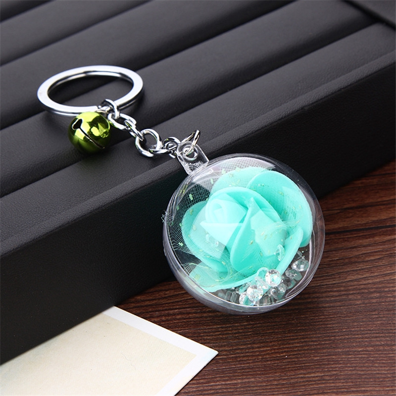 Tik Tok Rose Key Chain Spherical 3d Key Chain Shopee Malaysia