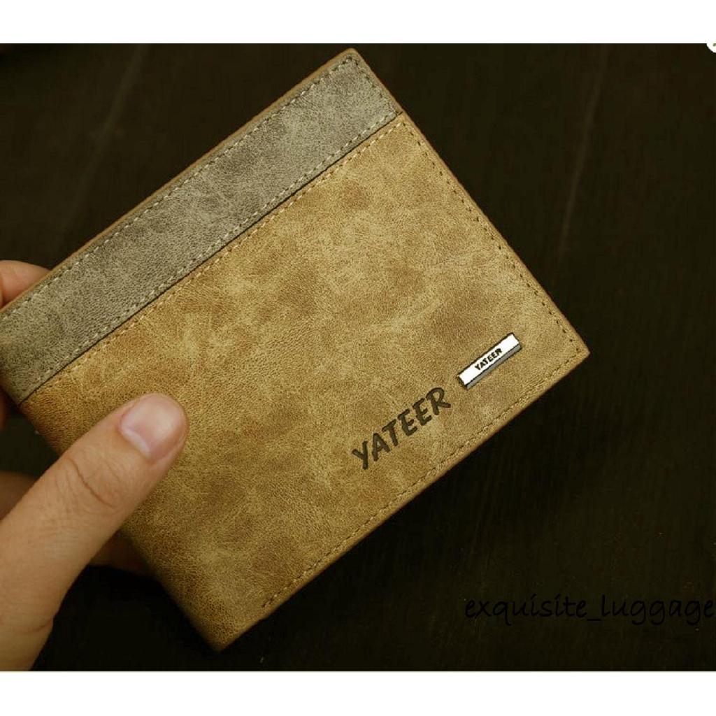 681d43731 ღ☭Fashion Mens Designer Brown Leather Wallet Luxury Credit Card Holder  Bifold