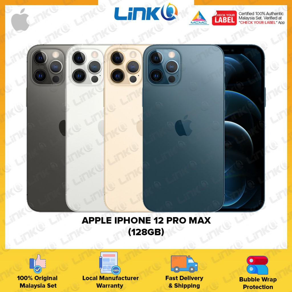 [ETA MID OF NOV] Apple iPhone 12 Pro Max 128GB (5G) Smartphone - Original 1 Year Warranty by Apple Malaysia