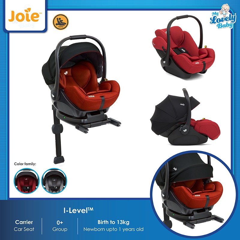 Joie i-Level Car Seat **Lifetime Warranty 1 to 1 Crash Exchange**