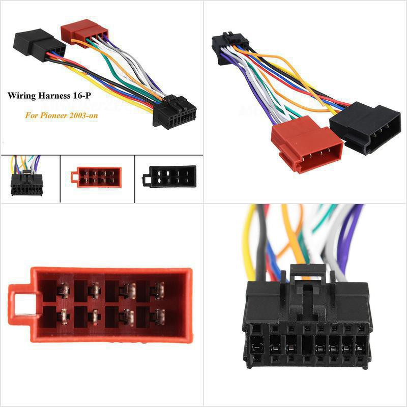 New Car Stereo Radio ISO Wiring Harness Connector 16 Pin For Pioneer 2003-on