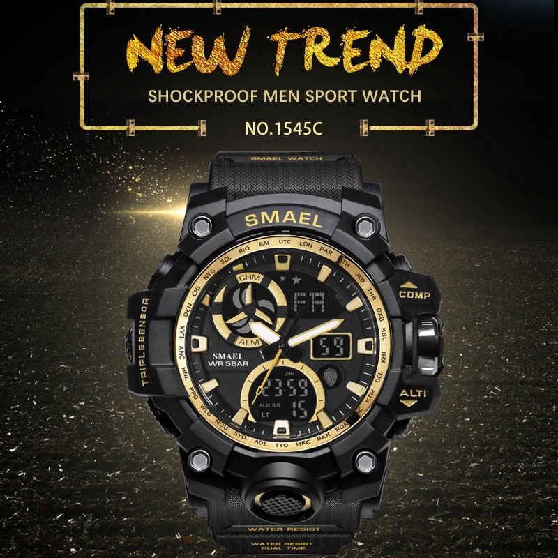 Military Watch Waterproof SMAEL Watch S Shock LED Men Watches Sport Digital