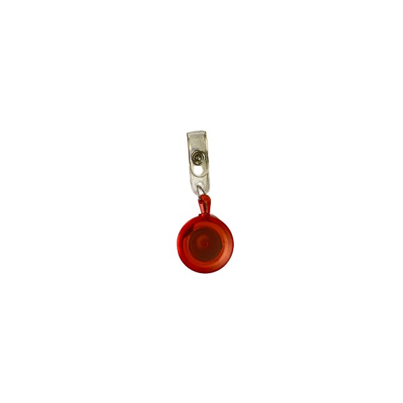 Round Shape Yoyo Pulley For ID Tag Holder (Red)