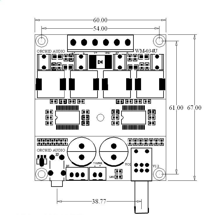 DC 12V 24V TPA3116D2 Hifi 2 0 Channel 100W+100W Stereo Audio Power Amplifier
