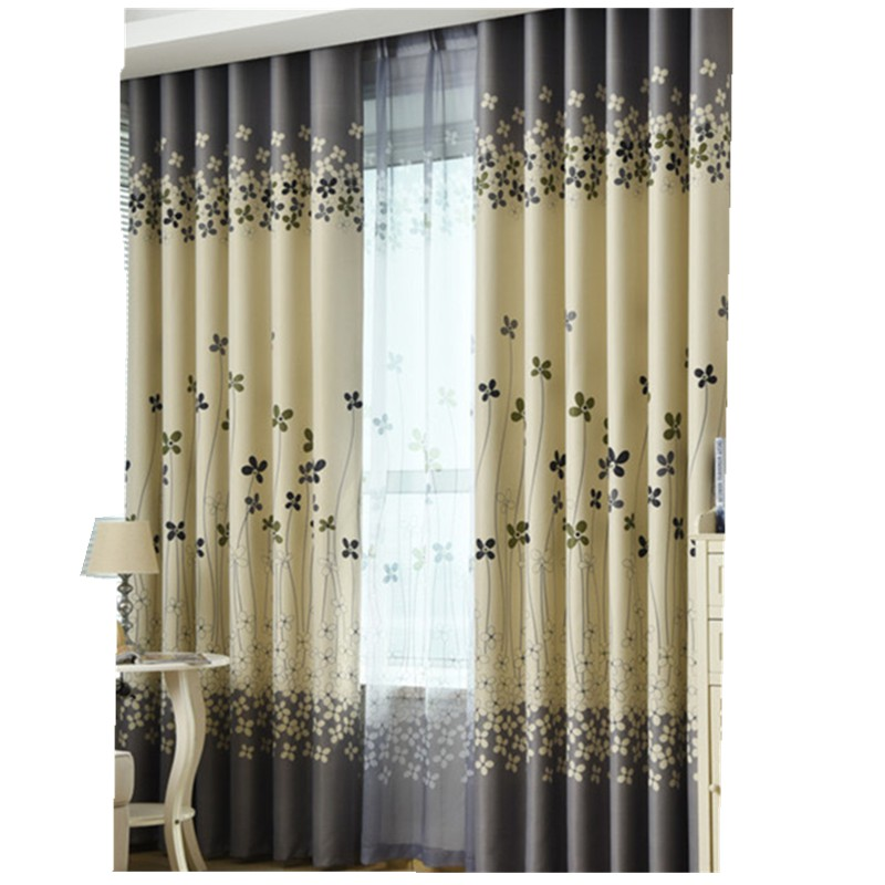Shade Blinds Printed Blackout Curtain Drapes Window