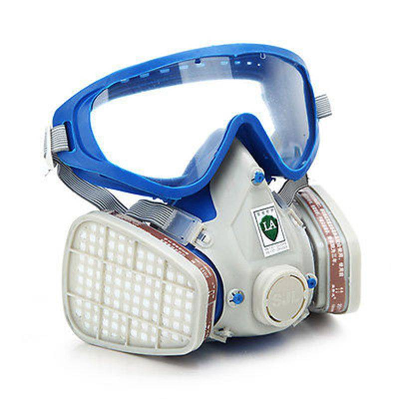 8a5a9fee5cd Silicone Full Face Respirator Gas Mask   Goggles Paint Chemical Dustproof  Fire