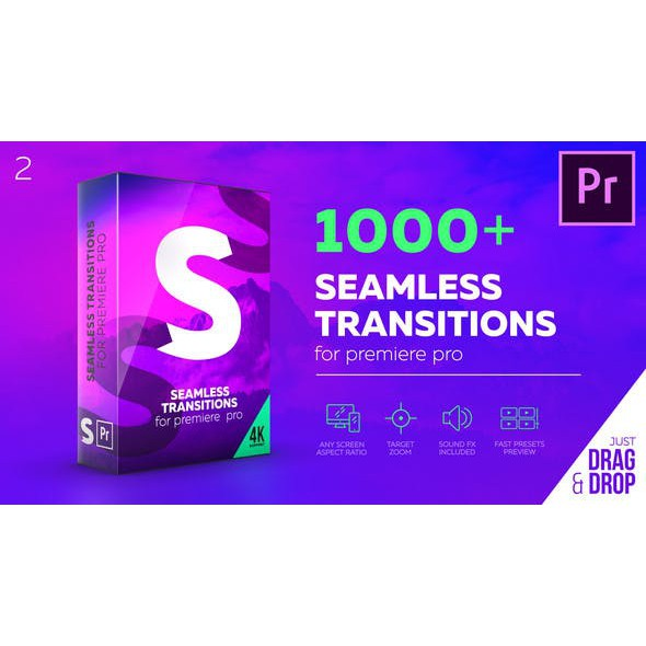 Adobe Premiere Pro - 1000++ Seamless Transitions - Full