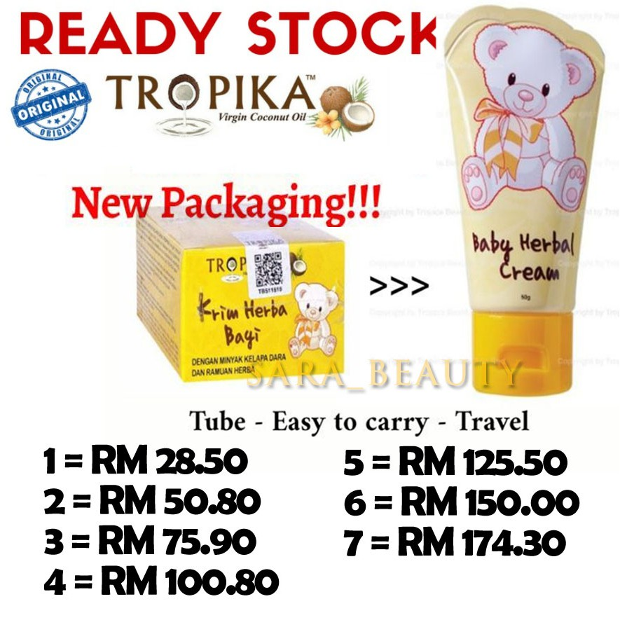 Tropika Baby Herbal Cream Krim Herba Bayi