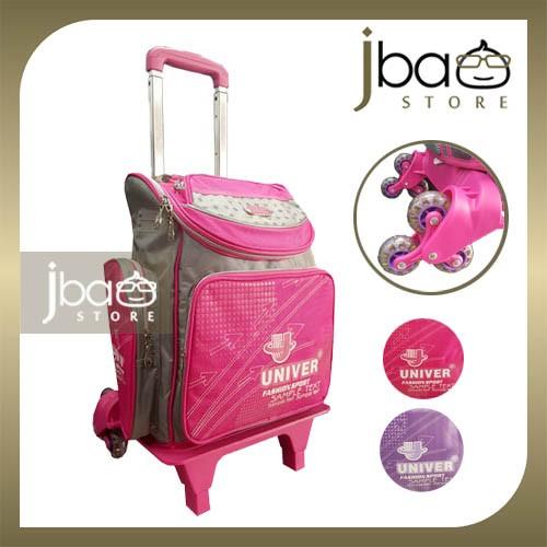 Univer 6 Wheels Trolley Kid School Bag Primary Backpack