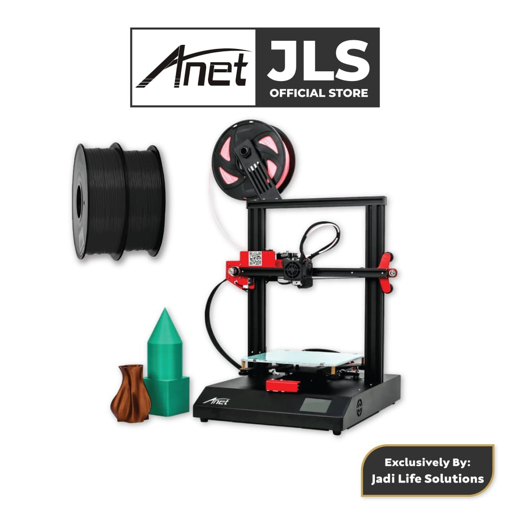 Anet ET4 All-Metal 3D Printer With Industrial Grade Chipset + 2x Black PLA