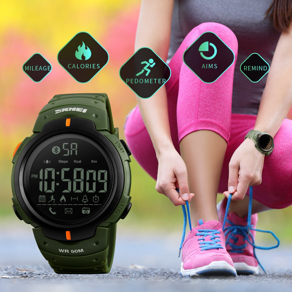 🔥 READY STOCK SKMEI SMART WATCH BLUETOOTH SPORTS PEDOMETER SKMEI 1250  CALORIE  307aecd9d0
