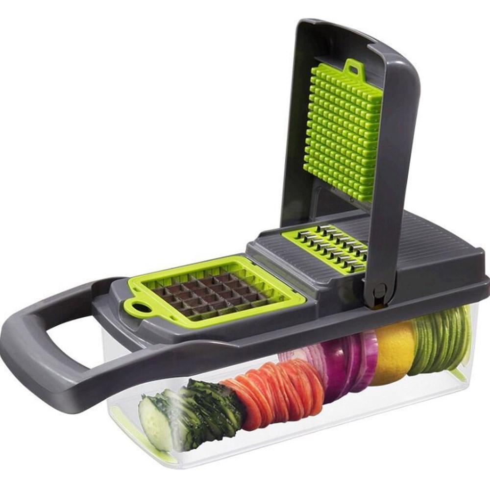 Kitchen 10 in 1 Multi Function Grater Vegetable Fruits Cutting Tool Slicer Peeler Chopper Grinder Set