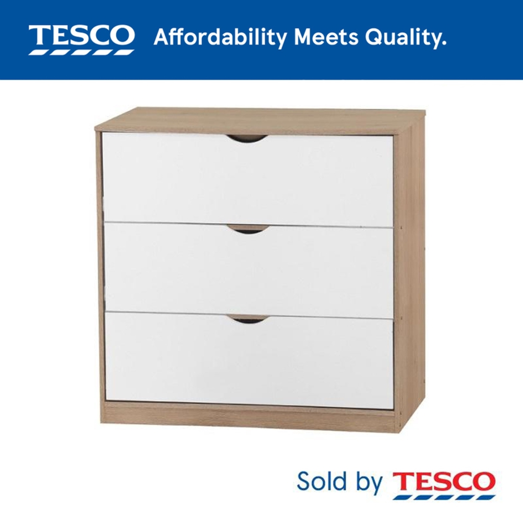 Tesco Chest Of 3 Drawer Ee Malaysia, Plastic Drawer Cabinet Tesco