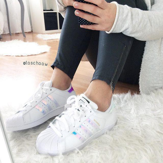 adidas superstar j metallic silver