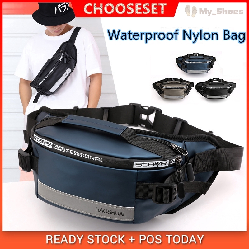 Men Fashion Waterproof Outdoor Sports Earphone Hole Waist Bag Fanny Pack Newly