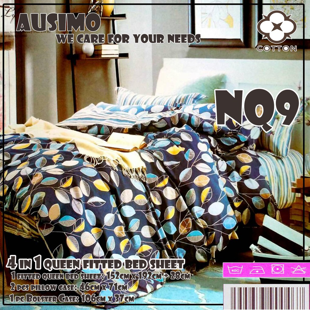 Harriet 3 In 1 Premium Bed Sheet  Queen Size (Fitted Sheet) | Shopee  Malaysia