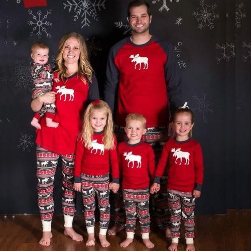 Family Christmas Pajamas With Baby.Family Christmas Pajamas Set Women Baby Kids Sleepwear