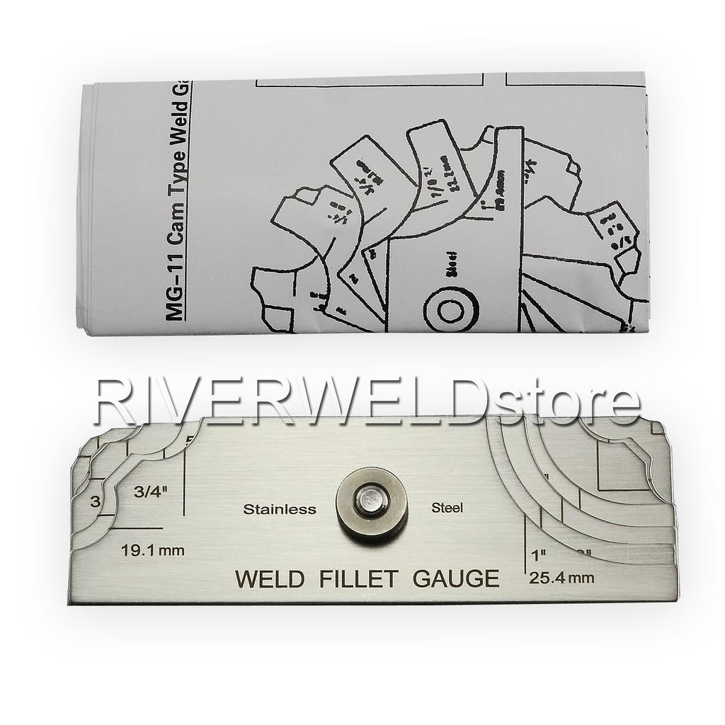 7piece Fillet Weld Set Gage RL Gauge Welding Inspection Test Ulnar Metric