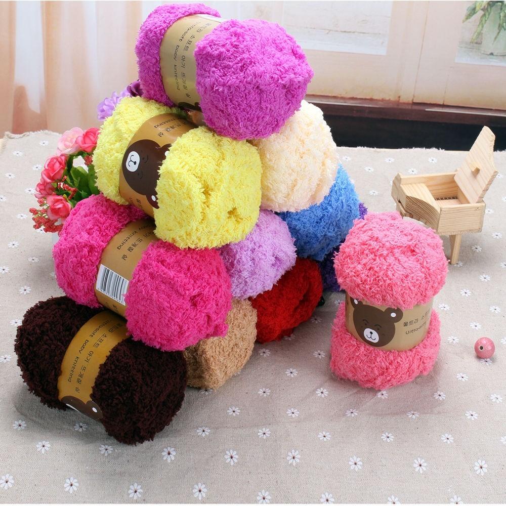 Woolcraft POMPOM Super Soft BABY Double Knitting Wool//Yarn 200g 02 Baby Blue