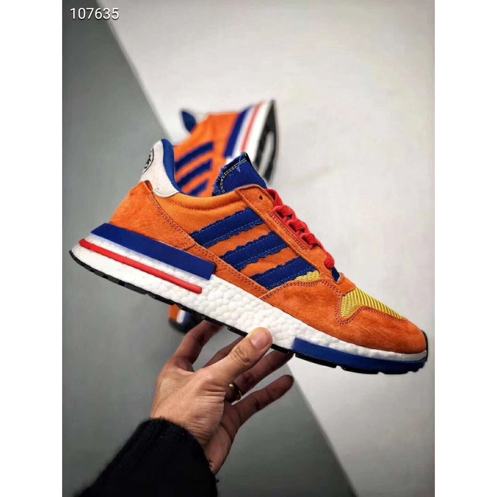 finest selection 3737c edf01 Dragon Ball Z x Adidas ZX500 RM Boost SON GOKU Running Shoes
