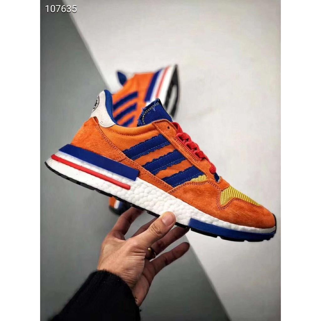 finest selection 24edd 16cfc Dragon Ball Z x Adidas ZX500 RM Boost SON GOKU Running Shoes